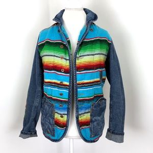 Free People Artisan De Luxe Mexican blanket jacket